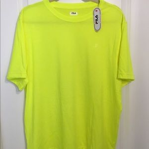 Neon yellow Fila sport shirt